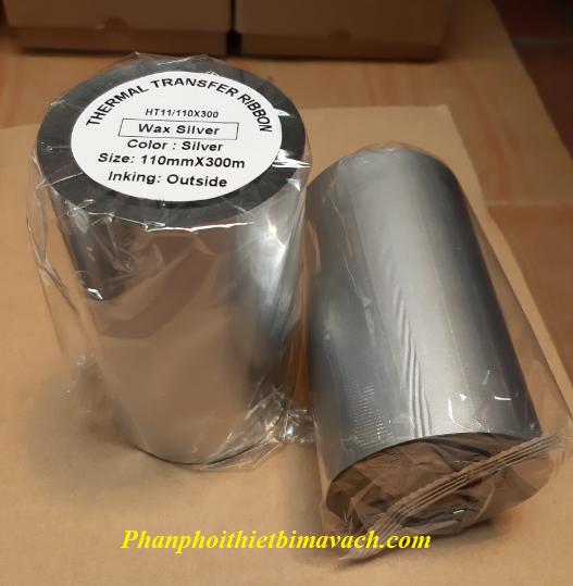 Mực in mã vạch Silver Wax Ribbon HT11 110x300m